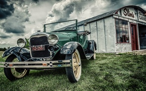 Картинка car, ford, vintage, old, garage