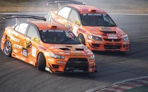 Обои Evolution, Car, Drift, Evo, Mitsubishi, Lancer, Авто, Дрифт, Занос, Спорт