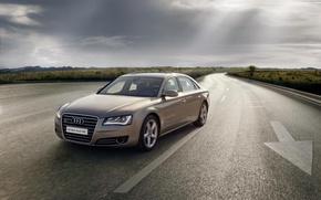 Картинка Audi, Sedan, Champagne Gold