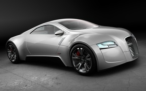 Обои Concept, серебристый, Audi