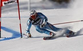 Обои Франция, горные лыжи, Val d'Isere, Аксель Лунд Свиндал, Aksel Lund Svindal, colmar, слалом-гиганд