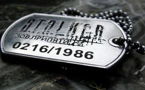сталкер, зов припяти, жетон, 0216/1986 обои