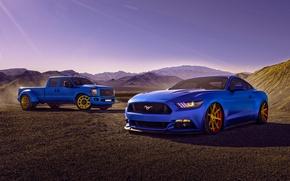 Картинка Mustang, Ford, Cars, Blue, Eragon, F150, 2015