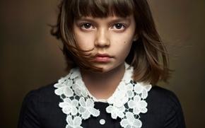 Картинка портрет, Alexander Vinogradov, beautiful portrait, девочка, кареглазая