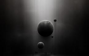 Обои люди, выставка, Планеты