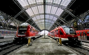 Обои поезда, станция, вокзал