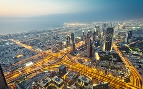 Картинка город, небоскребы, Dubai, дубай, ОАЭ, дубаи