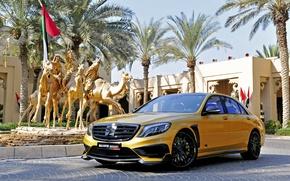 Картинка Mercedes-Benz, скульптура, Brabus, мерседес, брабус, S-class, W222, Rocket 900