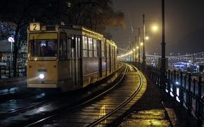Картинка трамвай, Будапешт, owl car