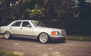 Обои Mercedes-Benz, w126, stance