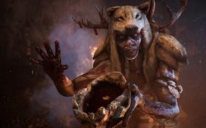 Картинка Череп, Кровь, Ubisoft, Far Cry Primal, Древнии