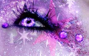 Обои арт, глаз, девушка, фЭнтези