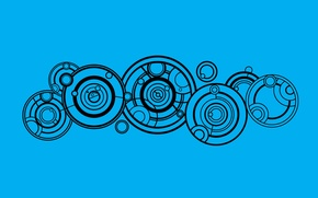 Картинка круги, фон, узоры, символы, Doctor Who, Доктор Кто