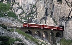 Обои Швейцария, Железная дорога, Горы