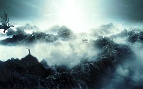 Картинка драконы, страна, фантастическая