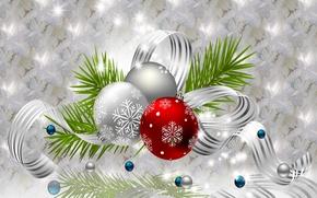 Обои праздник, украшения, игрушки, шарики