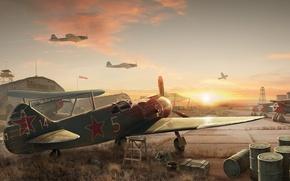 Картинка восход, WoWP, Airbase