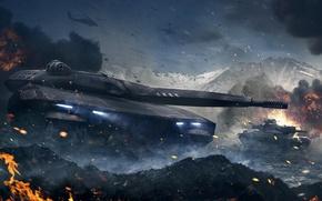 Обои Armored Warfare, Obsidian Entertainment, Проект Армата, CryEngine, my.com, mail.ru, танк, PL-01