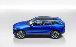 Картинка car, Jaguar, blue, cross, Jaguar c x17