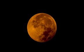 Картинка звезды, луна, спутник, затмение, Moon