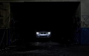 Обои фары, bmw, темнота