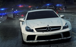 Картинка Mercedes, Benz, Need for Speed, nfs, racing, Black Series, SL65, Most Wanted 2012