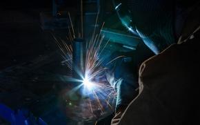 Картинка metal, sparks, welder