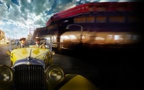 Картинка car, машина, Нью-Йорк, New York, Леонардо ДиКаприо, Leonardo DiCaprio, The Great Gatsby, американская классика, Тоби …