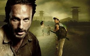 Обои Ходячие мертвецы, Сара Уэйн Кэллис, Sarah Wayne Callies, Lori Grimes, The Walking Dead, Rick Grimes, ...
