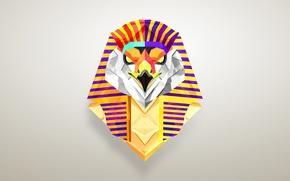Картинка египет, фон, символ, птица