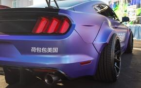 Обои вид сзади, Mustang, фары, цвет