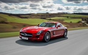 Картинка Mercedes, спорткар, SLS