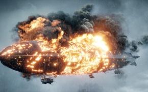 Обои цеппелин, игра, война, горит, Battlefield 1, Electronic Arts, огонь