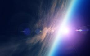 Картинка космос, звезды, планета, арт, space, planet, starlight