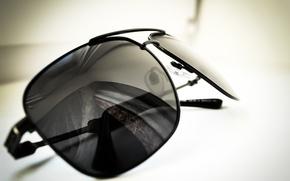 Картинка макро, фото, чёрный, очки