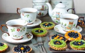 Картинка чай, кофе, еда, киви, пирог, чашка, фрукты, крем, десерт, cup, fruit, coffee, cream, dessert, kiwi, …