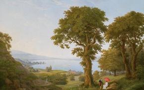 Картинка landscape, figures, Frederic Fregevize