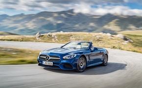 Картинка R231, Mercedes-Benz, кабриолет, мерседес, SL-Class, синий