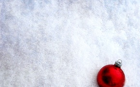 Картинка зима, снег, новый год, шар