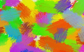 Картинка свет, полотно, краска, цвет, мазок, штрих