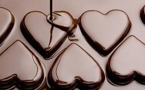Картинка любовь, праздник, сердце, еда, шоколад, текстура, love, heart, texture, food, hearts, chocolate, sweet, holiday