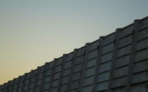 Картинка небо, здание, минимализм, заброшенный завод, жби, польский городок, перестройка, нефтекамск