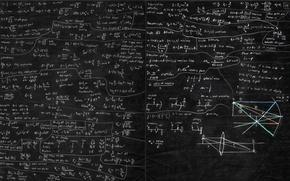 Картинка надписи, доска, формулы, мел