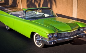 Картинка ретро, Cadillac, 1960, кабриолет, передок
