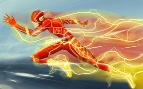 Картинка скорость, art, flash, DC Comics, Флэш