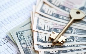 Картинка metal, key, money, dollar, paper