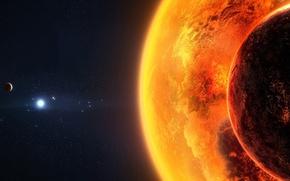 Обои планета, звезды