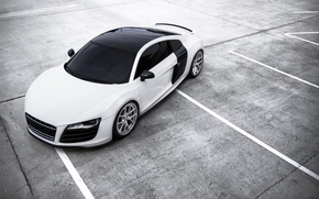 Картинка белый, Audi, ауди, парковка, white