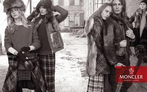 Картинка Fall, Winter, Campaign, Maartje Verhoef, Gamme Rouge, Moncler, Nicola Wincenc, Kate Grigorieva, Julia van Os, …