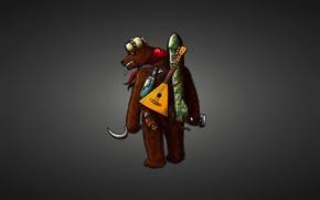 Картинка шапка, бутылка, фитиль, ракета, медведь, сигарета, черный фон, серп и молот, bear, матрешка, балалайка, матрена